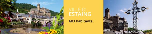 Ville d'Estaing en Aveyron