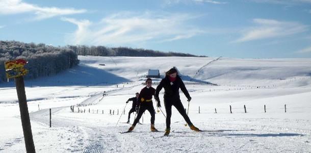 Sport d'hiver a Laguiole